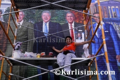 Karlisima_on_scaffold_mama_ayeshas_restaurant__presidential_mural